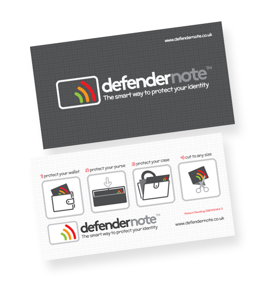 Protect your wallet with a defender note against RFID card fraud