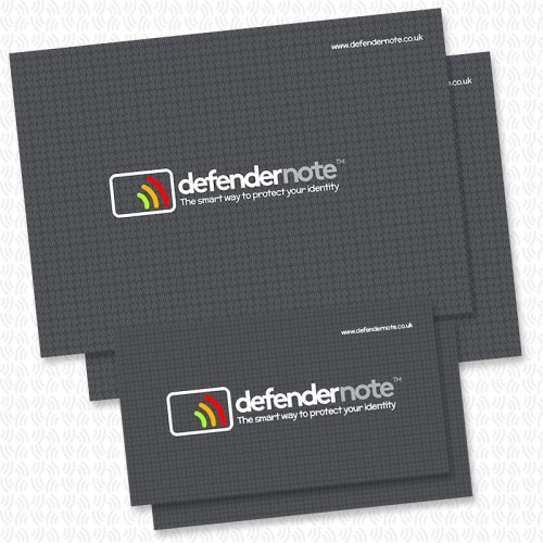 Family pack of defender notes containing 2 small and 2 large. RFID contactless card protection against fraud