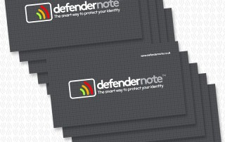 Defender note card fraud protection
